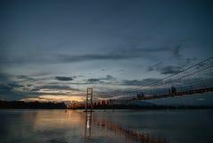 Pont suspendu de Rattanakosin Image libre de droits