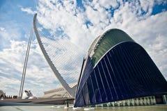 Pont suspendu et l'agora à Valence Images libres de droits