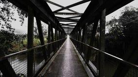 Pont suspendu hanté Photographie stock libre de droits