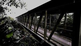 Pont suspendu hanté Photos libres de droits