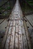 Pont suspendu par piéton photo stock