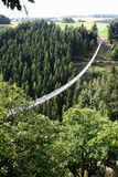 Pont suspendu simple Geierlay dans Moersdorf au moun de Hunsrueck images stock