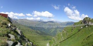 Pont suspendu, Stubnerkogel, mauvais Gastein, Autriche Photo libre de droits