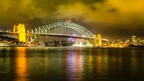 Pont Sydney de port image stock