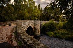 Pont Tordu crooked bridge at Le Puy en Velay, France Stock Images