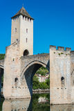 Pont Valentre in Cahors, France. Royalty Free Stock Image