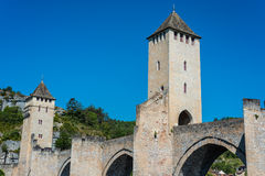 Pont Valentre in Cahors, France. Stock Photos