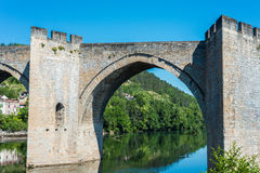 Pont Valentre in Cahors, France. Stock Photography