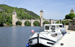 Pont Valentre in Cahors Royalty Free Stock Photo