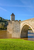 Pont Valentre fortified bridge in Cahors Stock Photography