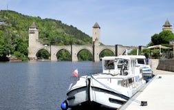 Pont Valentre w Cahors Zdjęcie Royalty Free