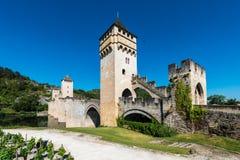 Pont Valentre w Cahors, Francja Zdjęcia Royalty Free