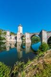Pont Valentre w Cahors, Francja Obraz Royalty Free