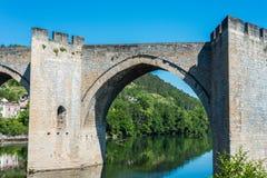 Pont Valentre w Cahors, Francja Fotografia Stock