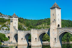 Pont Valentre w Cahors, Francja Obraz Stock