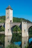 Pont Valentre w Cahors, Francja Zdjęcie Stock