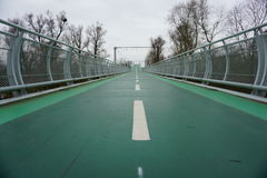 Pont vert en vélo Images stock