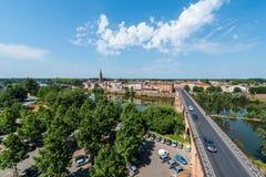 Pont Vieux在蒙托邦,法国 免版税库存图片