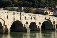 Pont Vieux in Beziers, France Stock Photo