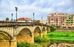 Pont Vieux bridge above the Adour River in Dax - France, Landes Stock Photo