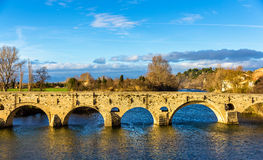 The Pont Vieux, a bridge over the Orb in Beziers Royalty Free Stock Photography