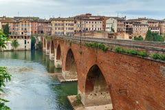 Pont vieux brug, Albi, Frankrijk royalty-vrije stock fotografie