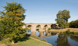 Pont Vieux Carcassonne stock image