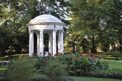 Pont-Villa und Gärten Lizenzfreie Stockfotos
