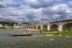 Pont Wilson nas excursões, França imagem de stock royalty free