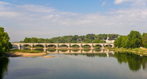 Pont Wilson in Tours - France Royalty Free Stock Image