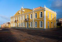 Ponta做Sol,市政大厅,佛得角 库存图片