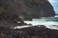 PONTA台尔GADA,圣米格尔火山, AZORES-APRIL 26日2016年:游人步行 免版税库存照片