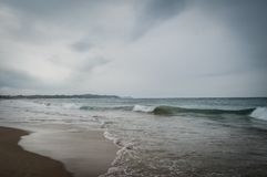 Ponta在莫桑比克做Ouro海滩-绿色和最佳的海滩 库存图片