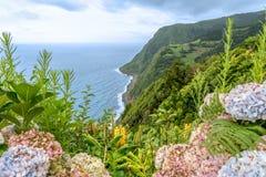 Ponta делает Sossego около Nordeste на острове Sao Мигеля, Португалии Стоковое Изображение