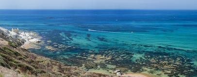Ponta branca, Agrigento em Sicília - Itália Imagens de Stock