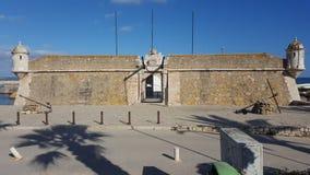 Ponta da Bandeira Fort , Lagos stock photography
