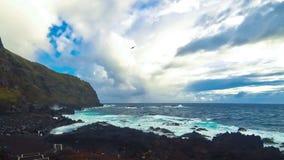 Ponta da Ferraria, bathing site on Azores, Portugal stock footage