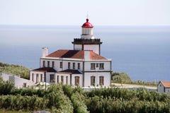 Ponta DA Ferraria Leuchtturm Lizenzfreie Stockfotos