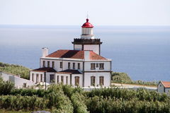 Ponta da Ferraria Lighthouse Royalty Free Stock Photos