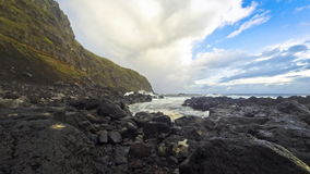 Ponta da Ferraria - spa and bathing site with therapeutic water, Azores, Portugal stock video