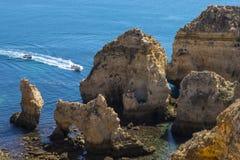 Ponta da Piedade在葡萄牙 库存照片