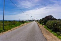 Ponta da Piedade, взгляд дороги Португалии стоковые изображения rf