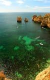 Ponta da Piedade в Лагосе Стоковые Фото