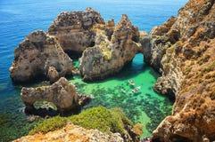 Ponta da Piedade в Algrave, Португалии Стоковая Фотография RF