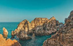 Ponta DA Piedade, Algarve, Portugal Royalty-vrije Stock Afbeeldingen
