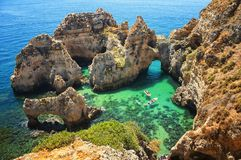 Ponta da Piedade in Algrave, Portugal Royalty Free Stock Photography
