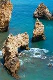 Ponta da Piedade cape& x28; Lagos Algarve, Portugal& x29; Royaltyfri Foto