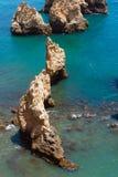 Ponta da Piedade cape& x28; Lagos Algarve, Portugal& x29; Royaltyfri Bild