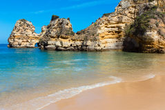 Ponta da Piedade (Lagos, Algarve, Portugal). Royalty Free Stock Photo