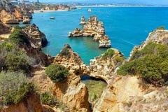 Ponta da Piedade & x28; Lagos, Algarve, Portugal& x29; Fotografie Stock Libere da Diritti